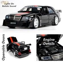 1:32 AMG 190E DTM гоночная модель автомобиля из сплава игрушечная спортивная машина украшение обучающая игрушка автомобиль для мальчиков Игрушки ...