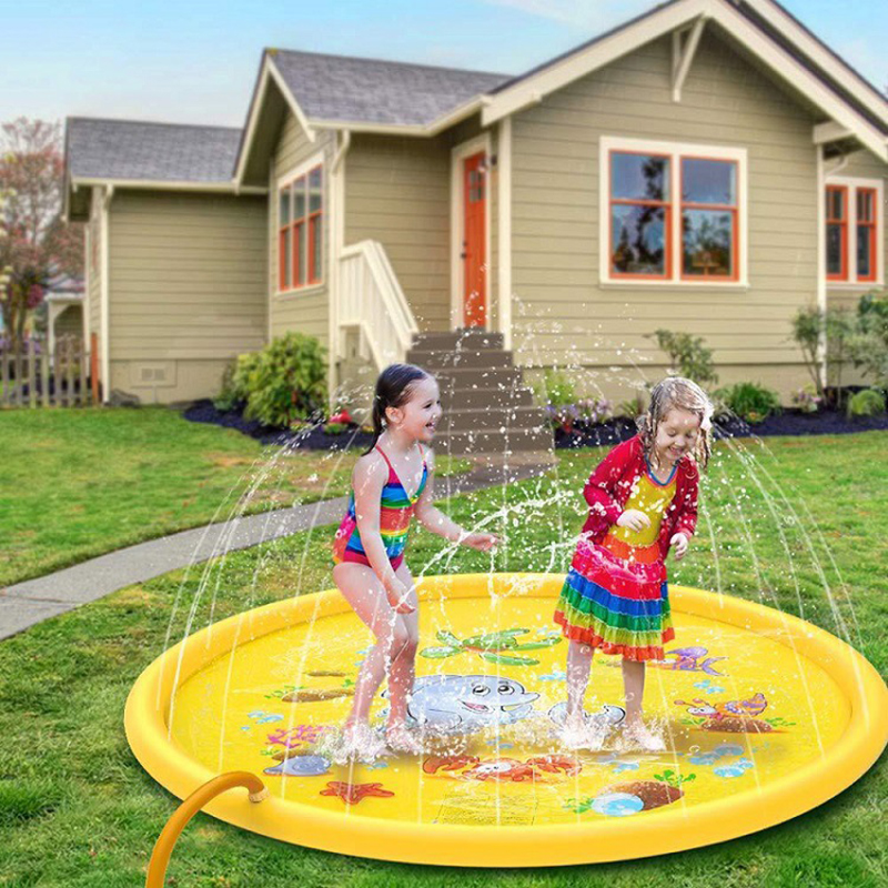 170cm Inflatable Spray Water Cushion Outdoor Lawn Beach Sea Animal Inflatable Water Spray Adult Kids Sprinkler Play Water Games