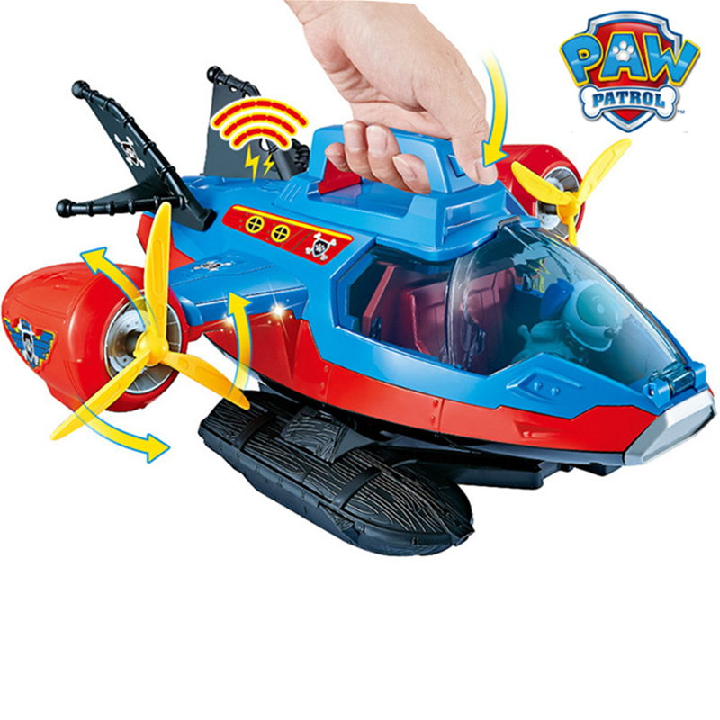 Image 2 - Paw Patrol Dog Toy set Toys Air patrol Aircraft Toy Pirate Ship Robot Dog Music Action Figures Toy for Children Birthday GiftAction & Toy Figures   -