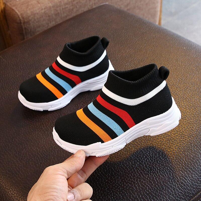 criancas sapatos meias tenis net malha respiravel lazer crianca esportes sapatos de corrida meninos infantil da