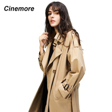 Cinemore 2020 Autumn New Women's Casual trench coat oversize Double Breasted Vin
