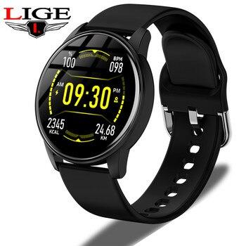 LIGE Smart Watch IPS Color Screen Men Waterproof Sports Fitness Tracker Heart Rate Monitoring Smartwatch Women reloj inteligente