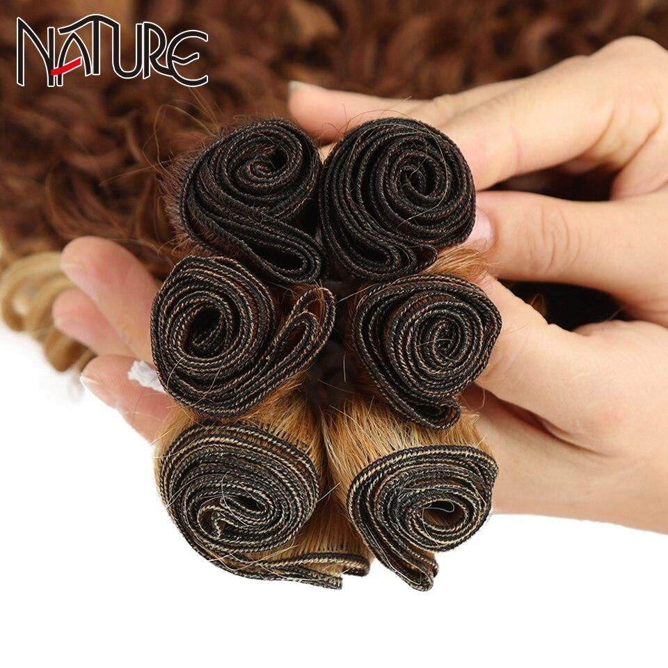 Natural extensões de cabelo onda solta feixes