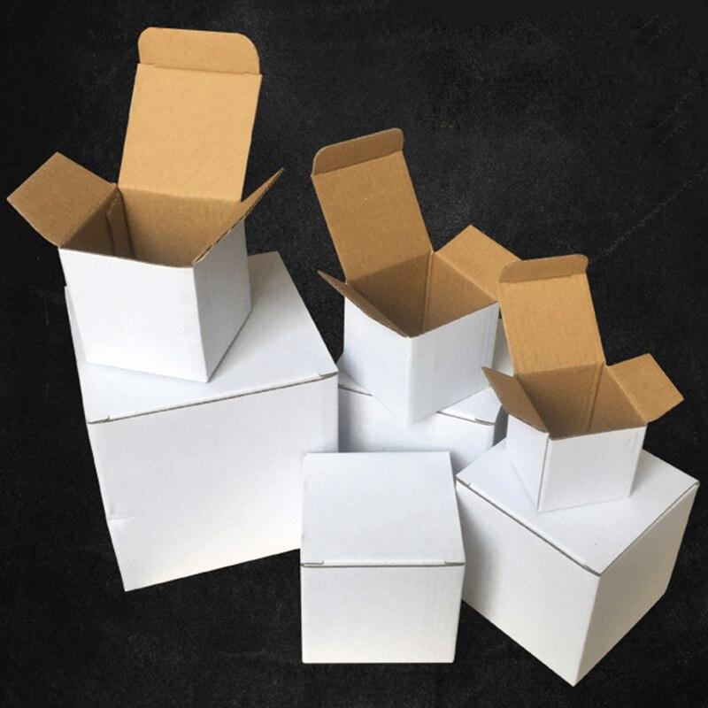 15Pcs 11 Sizes Square Corrugated Box White Kraft Cardboard Box Mailer Birthday Christmas Gift Boxes 3-Layer Thicken Paper Box