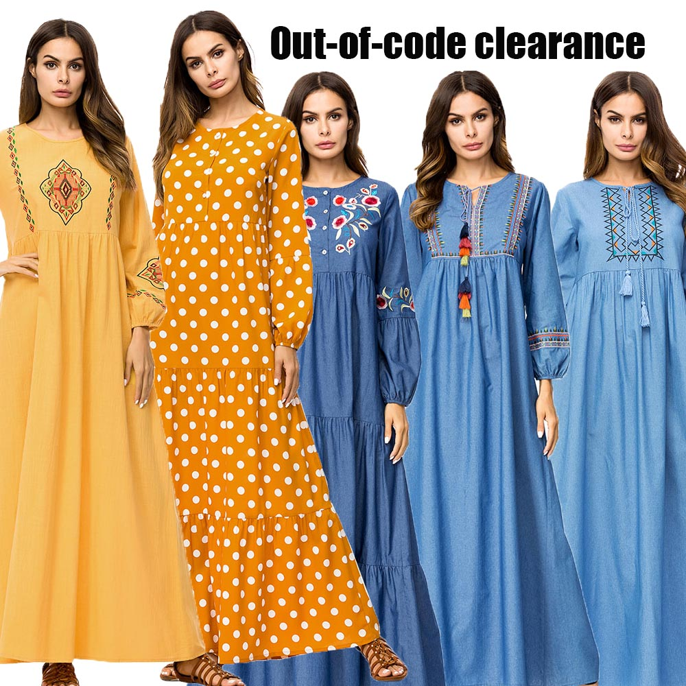 BNSQ Special Price Break Code Cheap Sale Muslim Women Dress Abaya Maxi Dubai Hijab Evening Dress Arabic Caftan Islamic Clothing