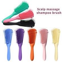 Tangling escova de cabelo massagem pente de cabelo molhado detangler escova de cabelo 2a a 4c kinky ondulado/encaracolado/coily/molhado/seco/óleo/cabelo grosso