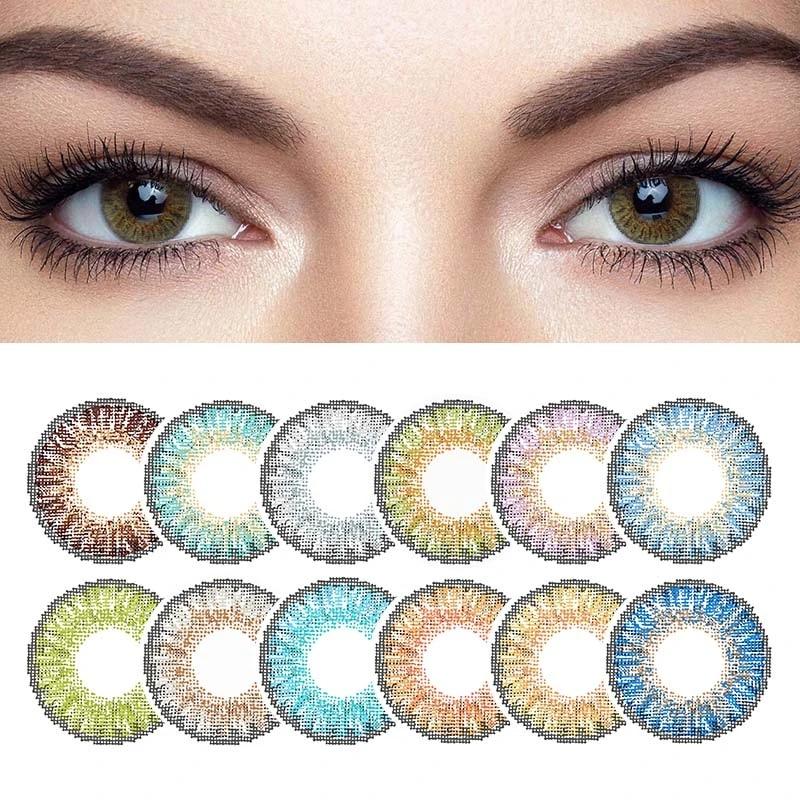 2 шт./пара цветные контактные линзы для глаз, 3 тона, цветные контактные линзы для глаз, контакты с цветной косметикой, красивый зрачок
