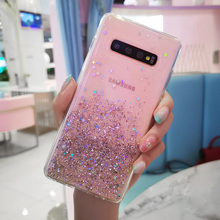 Fashion Glitter Bling Crystal Sequins Case for Samsung Galaxy S10 S9 S8 Plus Silicone Soft TPU Back Cover Transparent Phone