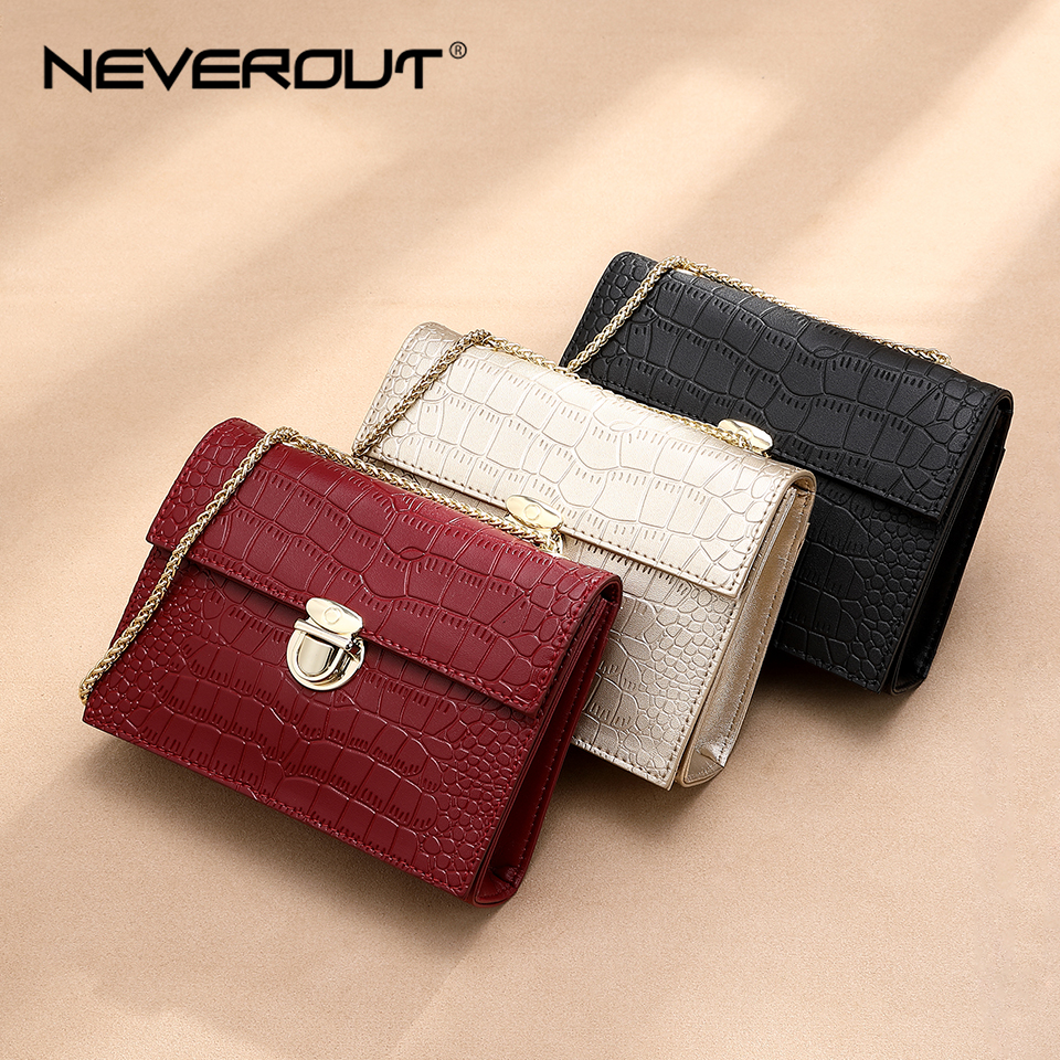 NEVEROUT Summer Small Bags for Women 2019 Soft Leather Shoulder Bag Candy Color Girls Evening Chain Flap