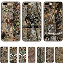 Mobiele Telefoon Case Voor Iphone X Xs Max Xr 6 6S 7 8 Plus 5 5S 11 Pro max Witte Zachte Tpu Realtree Real Tree Camo Shell(China)