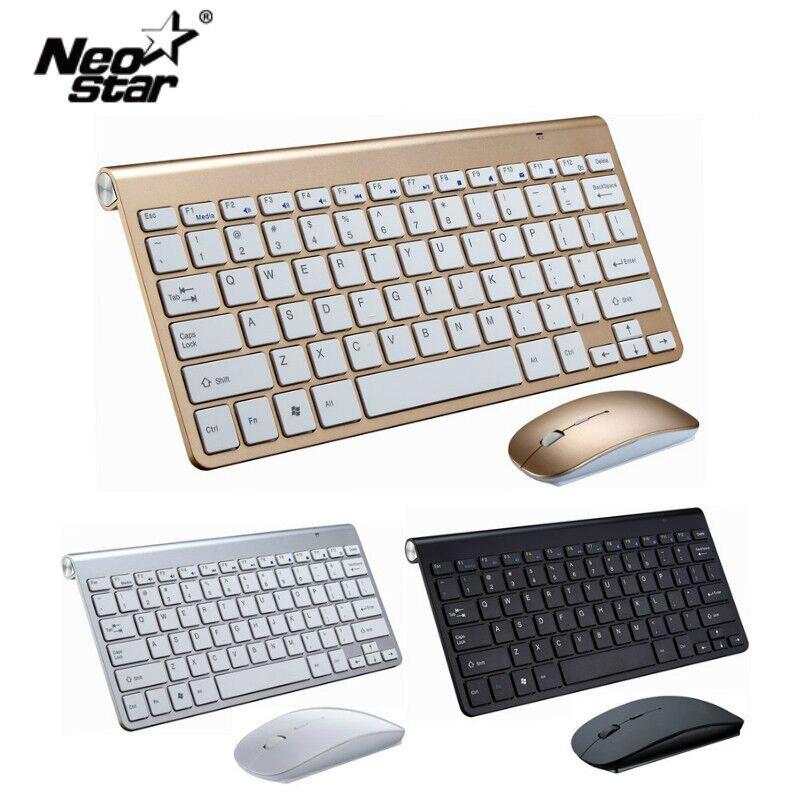 Ультра тонкая беспроводная клавиатура портативная 2,4G миниатюрная клавиатура с тачпадом Набор для Mac/notebook/tv Box/PC офисные принадлежности для IOS Android