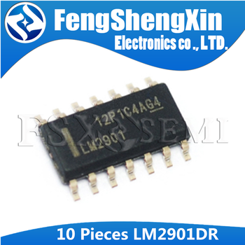 10pcs/lot LM2901 LM2901DR QUAD DIFFERENTIAL COMPARATORS IC SOP-14 image