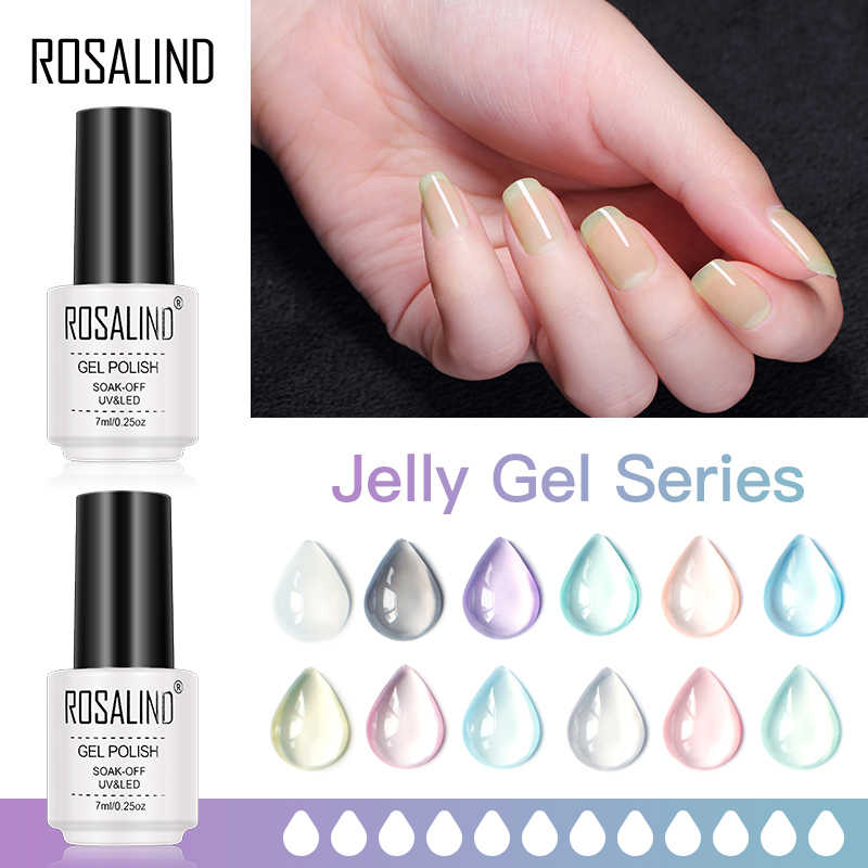 Rosalind Jelly Gel Nagellak Soak Off Nails Art Hybrid Vernissen Uv Gel Lak Alle Voor Manicure Semi Permanente Base en Top