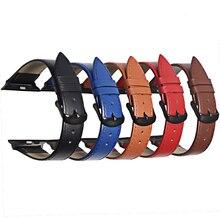 3 Цвет горячая распродажа Кожаный ремешок для часов для Apple, часы ремешок серии 5/3/2/1 спорт браслет 42 мм 38 ремешок для iWatch 4