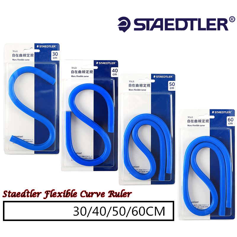 Staedtler 971 Flexible Curve Ruler Mars Drafting Drawing Snake Mechanical Tool Serpentine Plastic School Office Supplies