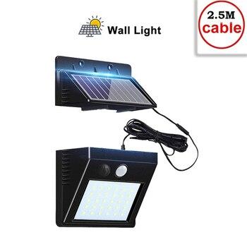 цена на 30 LED Solar Light Lamp Outdoor PIR Motion Sensor Solar Power Panel Garden Light Night Security Street Yard Path Wall Lamp indoo