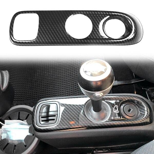 Для Mercedes-Benz Smart 451 Fortwo углеродного волокна ABS Ручка Переключения рулевого механизма автомобиля Панель рамка Обложка отделка стайлинга автом...