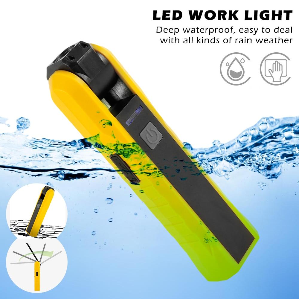 Led Work Light Portable COB Worklight Lamp Work Lamp Werklamp Flashlight Working Light Searchlight USB Rechargeable 10W