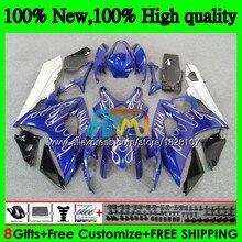 Корпус для SUZUKI GSXR-1000 GSX R1000 GSXR 1000 CC 05 06 42BS. 36 GSX-R1000 1000CC серебро пламени 05 06 K5 GSXR1000 2005 2006 обтекатель