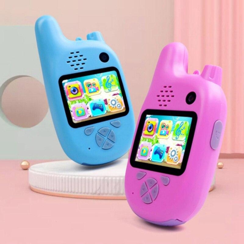 MWZ çocuklar Walkie Talkie kamera kamera Mini Video HD oyuncaklar Walkie Talkie kamera MP3 müzik çalar oyunu için en iyi hediye çocuk