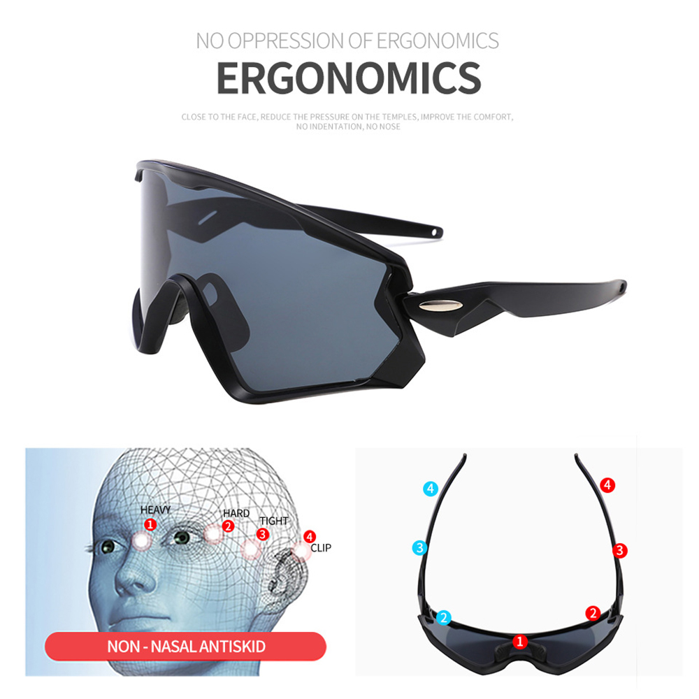 Купить с кэшбэком AIELBRO 2019 Men Women Cycling Glasses Mountain Bike Road Sunglases Bicycle Goggles Gafas Ciclismo Oculos Carretera Occhiali