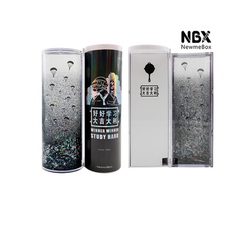 NBX newmebox China's most popular pen box creative school pencil cases with calculator glasses stationery.Students to use Black