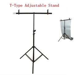New T-type Adjustable Background Frame Support Stand 200cm*200cm Metal Holder Photo Studio Backdrop System Photography Equipment