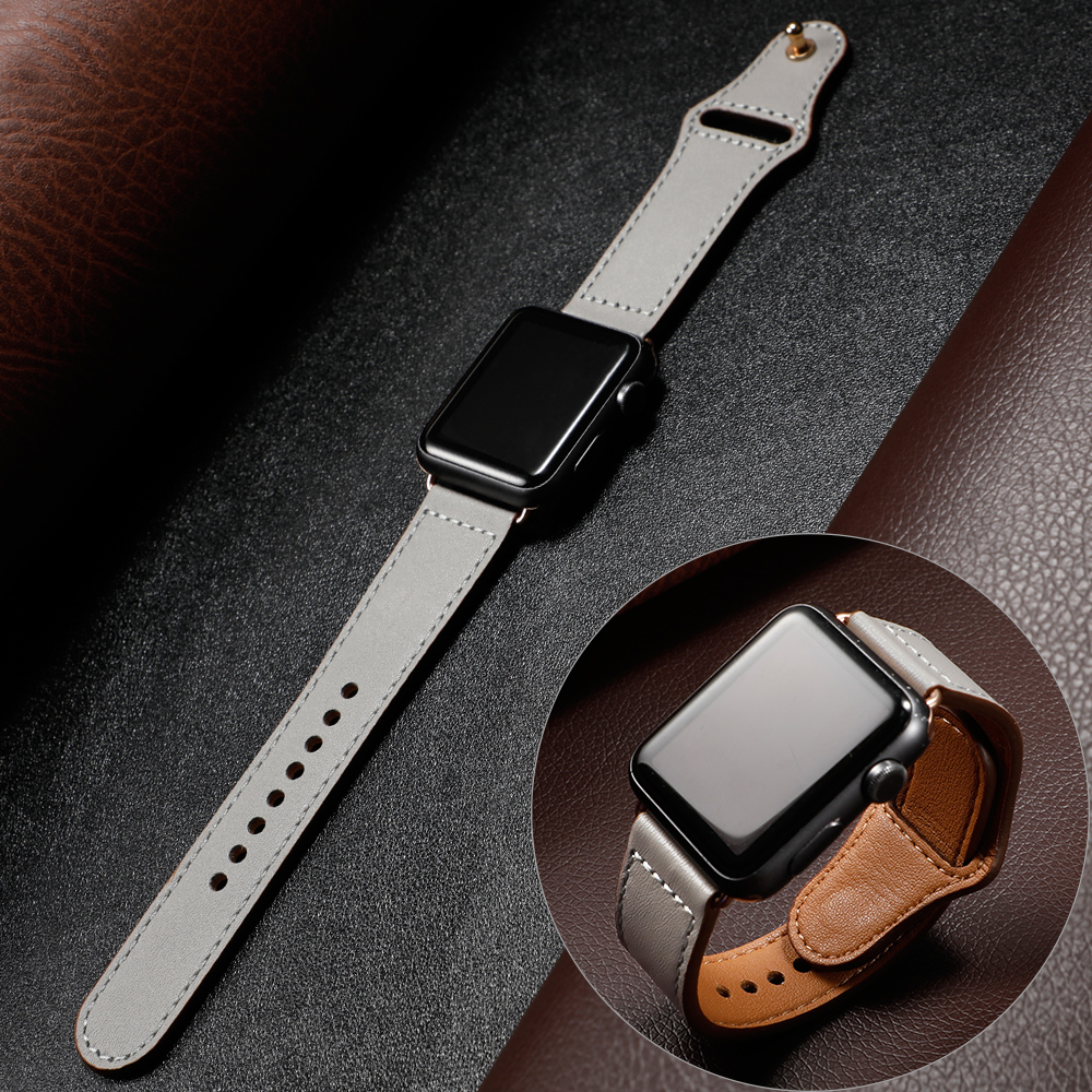 Leather Strap For Apple Watch Band 4 5 44mm 40mm Iwatch Band 42mm 38mm Bracelet Apple Watch 4 3 2 1 Accessories Sport Watchband