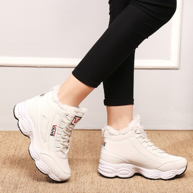 Image 5 - Womens SBabebcbd hoes Baitao Spring 2019 New Sports Shoes Net Red Thick soled Running Shoes Lace Leisure Student Shoes-in Running Shoes from Sports & Entertainment on AliExpress