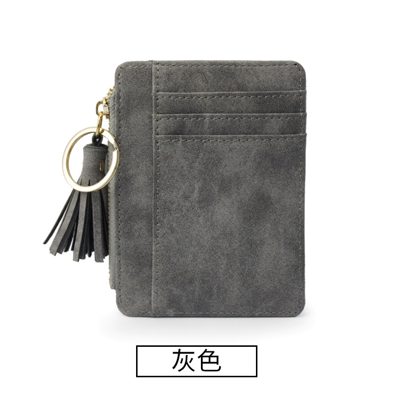 Купить с кэшбэком 2020 New Women's Wallets Small Mini Safe Money Bag Female Short Fringed Zipper Purse Credit Card Holder Coin Purse Carteira