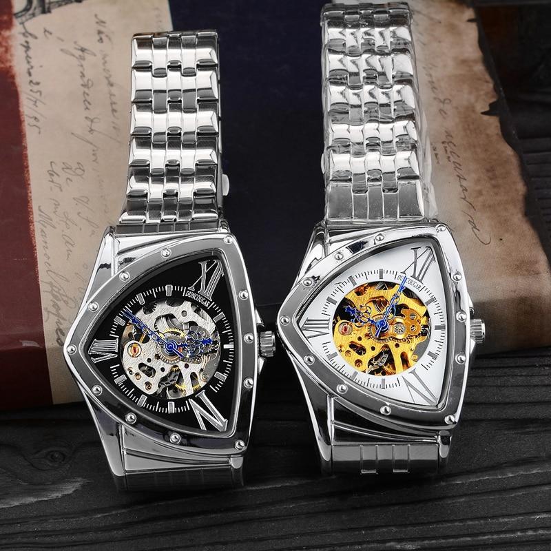 H9c9cca896c48445cbf7dedd49e20406cU Men Watch Hollow Triangular Mechanical Watches Stainless Steel Men's Wristwatches Fashion Brand Men Clock Male Dropshipping!!!