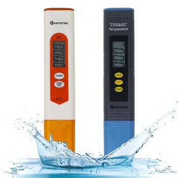 Ketotek cyfrowy ph-metr termometr ATC TDS i EC urządzenie do pomiaru temperatury celsjusza stopnie fahrenheita do basenu akwarium wino mocz woda tanie i dobre opinie PH TDS METER DIGITAL