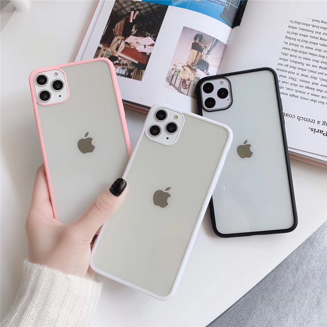 Matte Transparent Shockproof Phone Case For iPhone