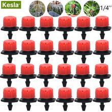 30-500PCS Adjustable 1 4 Irrigation Misting Dripper Sprinkler Head Micro Flow Drip Head Garden Watering Tool Lawn Greenhouse cheap KESLA KSL01-002 Plastic Watering Kits