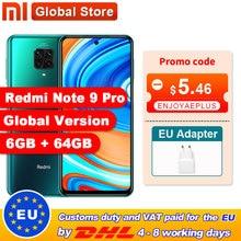 Global Version Redmi Note 9 Pro 6GB 64GB / 6GB 128GB NFC Smartphone Snapdragon 720G Octa Core 64MP Quad Camera