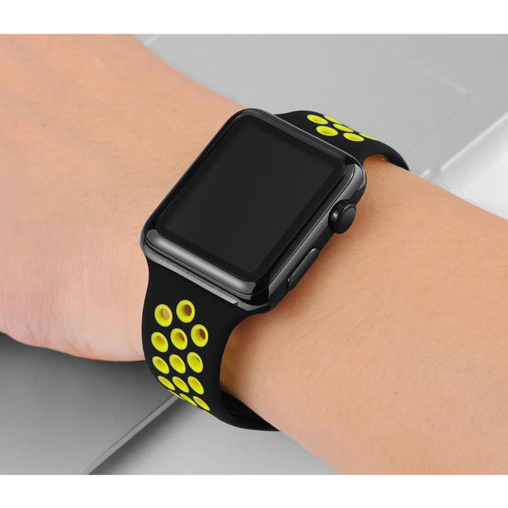 silicone Strap for Apple watch band 42mm 38mm correa iwatch 4 3 2 44mm 40mm sport band bracelet pulseira apple watch accessories Islamabad