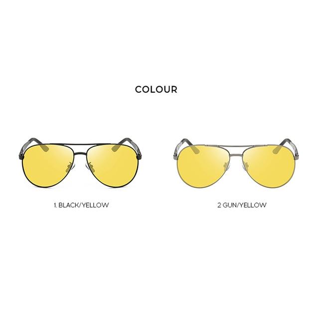 Classic Retro Polarized Night Driving Glasses for Women Men Oversized Anti Glare Night Vision Pilot Sunglasses U400 4