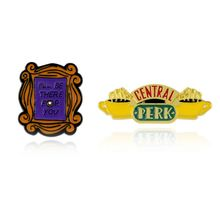 American Friends TV Show Photo Frame jewelry Metal Enamel Pins ILL BE THERE FOR YOU Letter Brooch Badge Brooches Lapel pin Men