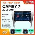 JIUYIN для Toyota Camry 7 XV 50 55 2012 - 2014 Автомобильный Радио Мультимедиа Видео плеер навигация GPS Android No 2din 2 din dvd