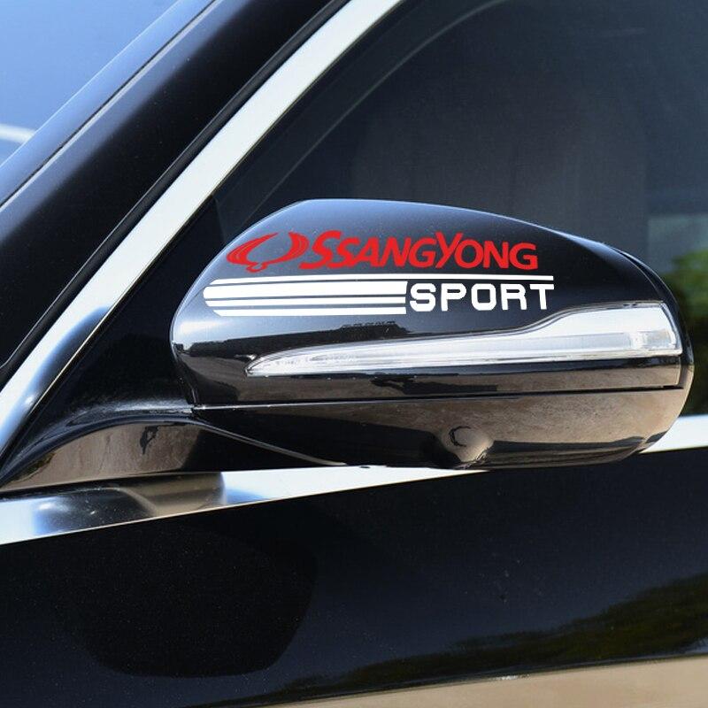 2 шт автомобильный Стайлинг Зеркало заднего вида Стикеры значок