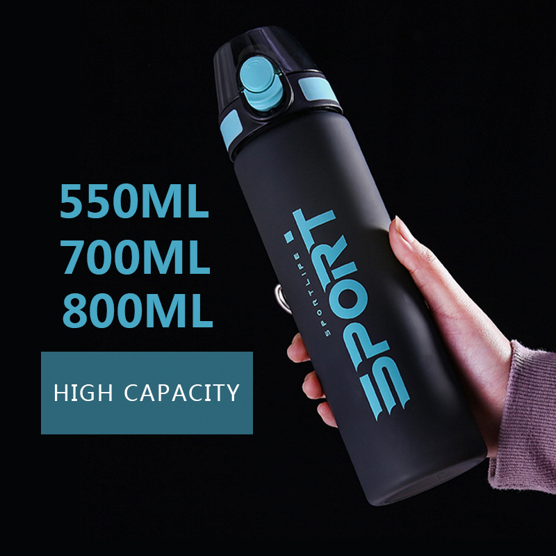 Explosive Sports Bottle 550/ 800ML Protein Shaker Outdoor Travel Portable Leak-proof Plastic Cup Beverage Bottle BPA Free
