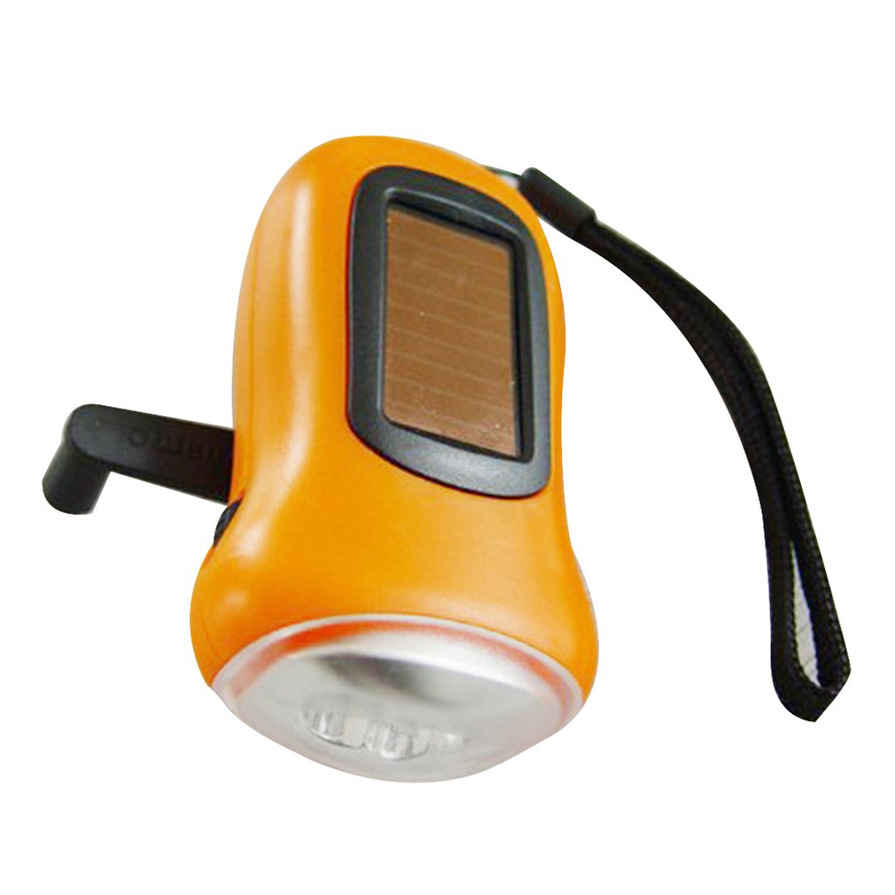 Mini 3 LED Solar Powered Hand Crank Flashlight Rechargeable LED Emergency Tent Camping Torch Light Portable For Outdoors Use