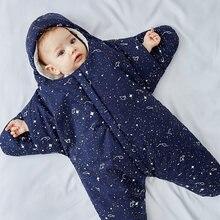 Детский зимний спальный мешок для новорожденных с морскими звездами