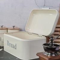 Vintage Bread Box Cupboard Iron Snack Box Desktop Finishing Dust Proof Storage Box Storage Bin Keeper Food Kitchen Shelf Decor W|Storage Boxes & Bins| |  -