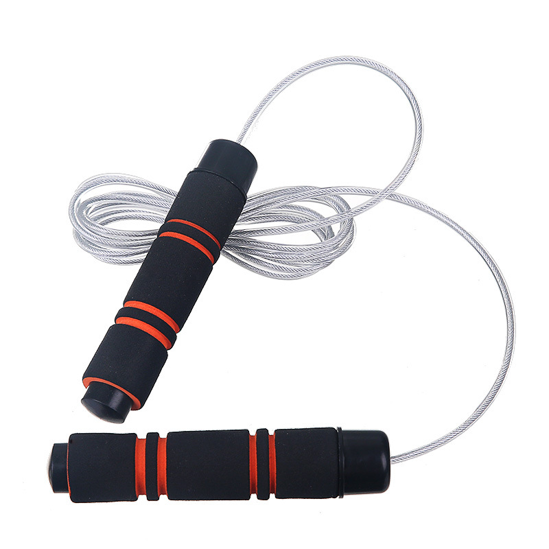 New Style High Quality Bearing Steel Wire Jump Rope   Adjustable Sports Jump Rope Adult Fitness Jump Rope Weight Sponge Jump Rop