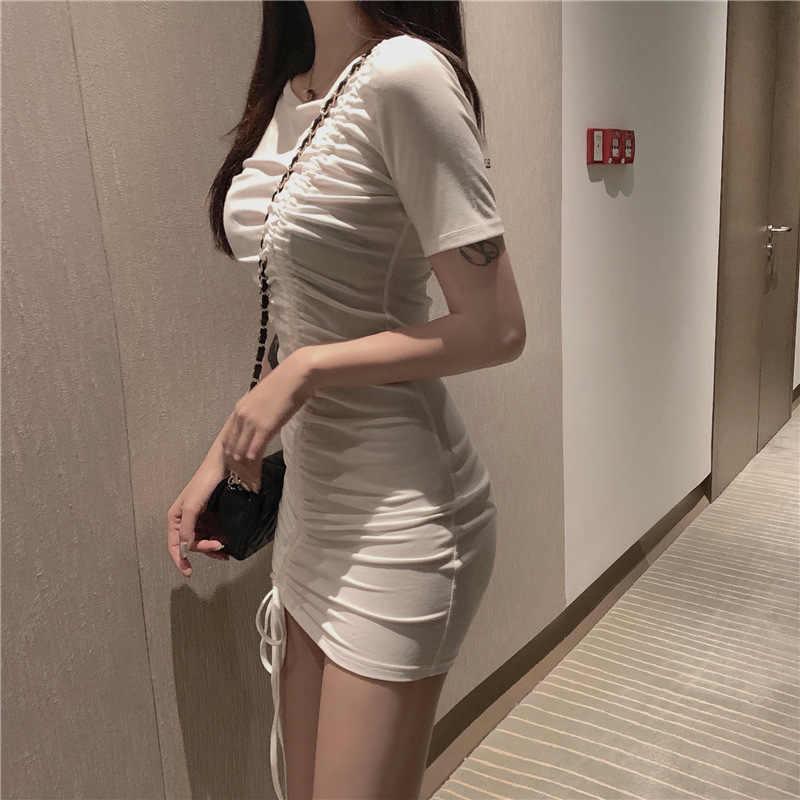 Hong Kong lezzet esneklik Slim Fit büzgülü zayıflama elbise