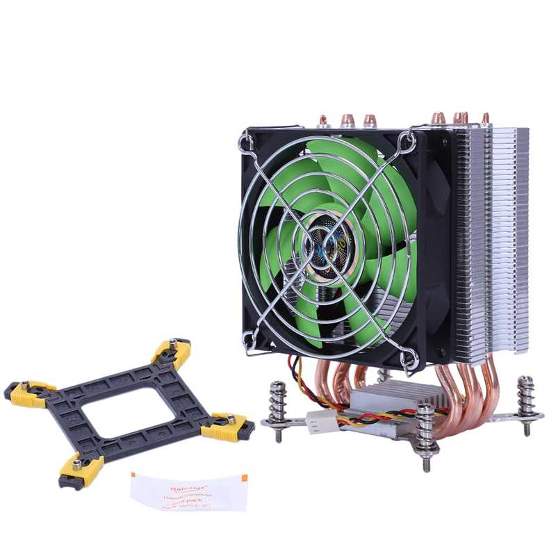 Lanshuo Tembaga Murni 4 Pipa Panas Thermal Cooler Processor untuk LGA/1150/1151/1155/1156/ 1366 Intel Multi Platform CPU Radiator 3