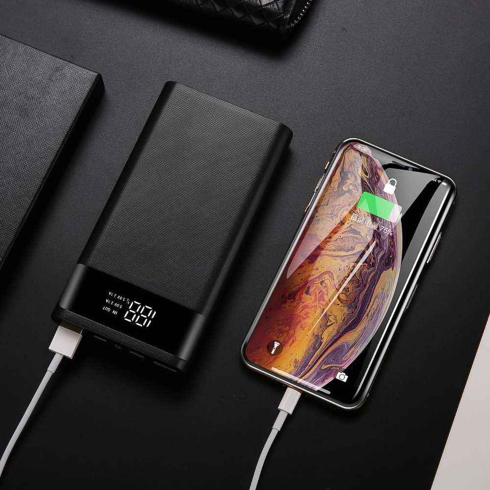 Kebidumei Dual USB Micro USB Type C Power Bank Shell 5V DIY 6*18650 Case Battery Charge Storage Box Without Battery 6