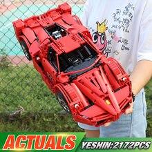 Yeshin Technic, игрушечные машинки, Legoing FXX, спортивный комплект гоночных автомобилей, строительные блоки, кирпичи, 1:8, модель автомобиля, детские игрушки, подарок