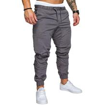 Men Pants Joggers Sweats Sports Fitness Slim Fit Sweatpants Solid color Casual Tether tight Trousers